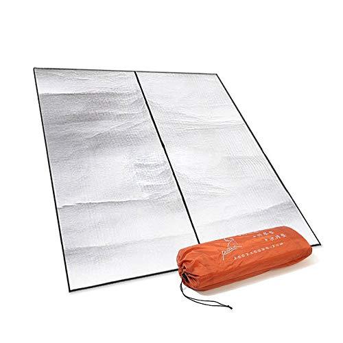 IGNB Wasserdichte feuchtigkeitsfeste Aluminium-Filmmatte des Campingzeltes im Freien ultraleichter Strand-Doppelmatten-Picknickmatte, 200  150 B07QG7SP95 Picknickdecken Garantiere Qualität und Quantität