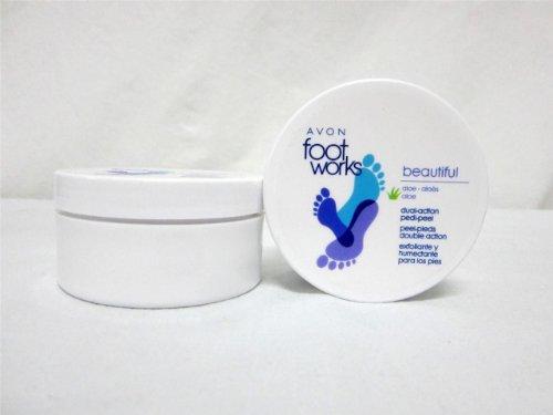 LOT of 2 Avon Foot Works Dual Action Pedi Peel Aloe Feet Exfoliate Pads 44 Pads