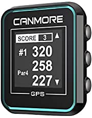 CANMORE H-300 Handheld Golf GPS - Essential Golf Course Data and Score Sheet - Minimalist & User Friendly - 38,000+ Free Courses Worldwide and Growing - 4ATM Waterproof - 1-Year Warranty (Turquoise)