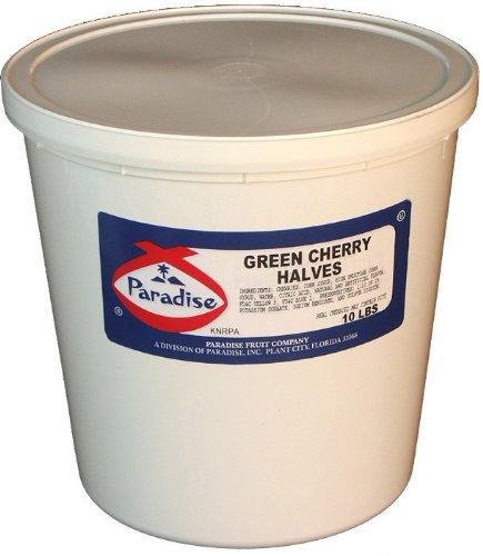 - Paradise Green Cherry Halves, 10-Pound Tub
