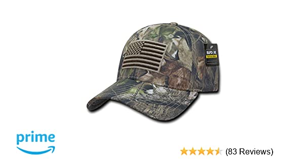 4a0555719885ef Rapid Dominance US American Flag Hybricam Mossy Camouflage Camo Baseball Cap  (One Size, Camo) at Amazon Men's Clothing store: