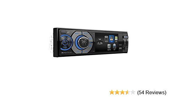 Soundstream VR-345B Single DIN A//V Source Unit with Detachable 3.4 LCD Screen//Bluetooth Black