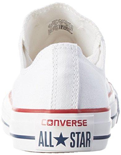 Converse All Star Ox Fashion tela, bianco (Optical White), 43 EU Uomini 41 EU Donne