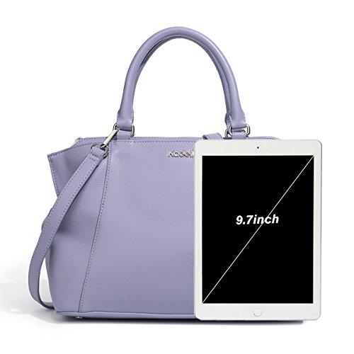 Tote Purse Bag Kadell Elegante Chiaro di borsetta handle Beige Top di Dottore Donne Body pelle Viola Croce qqw1PRvg