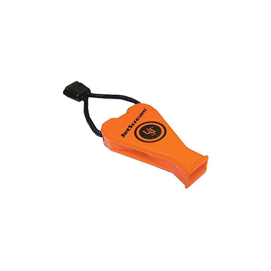 UST JetScream Floating Whistle with Powerful 122 dB Signal, Compact, Pea Less Lightweight Design and Lanyard for Use in Emergency Situations and Outdoor Survival
