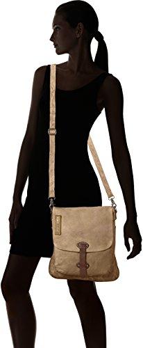 Taschendieb Unisex-Erwachsene Td0759 Schultertaschen, 29x34x1 cm Beige (Camel)