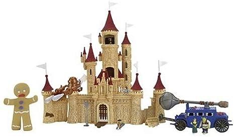 Amazon Com Shrek 2 Deluxe Ogre Micro Playset Far Far Away Castle Toys Games