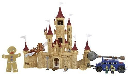 Shrek 2 Deluxe Ogre Micro Playset - Far Far Away Castle -