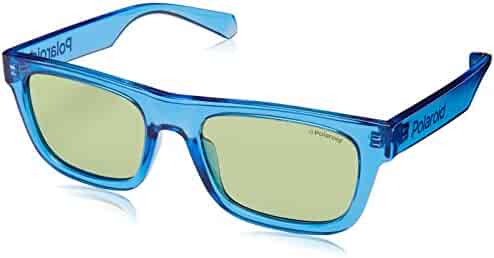 55 mm Lens Diameter GU30355501X Shiny Black Frame Blu Mirror Lenses Guess GU3035 Sunglasses