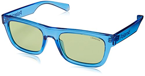6050 S 53 rectangular PJPUC Lentes montura azul en gafa Polaroid en verde unisex sol gT4wBW
