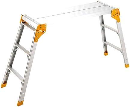 Multifuncional Dos caras de la plataforma de escalera, cubierta Plataforma de Trabajo/Ingeniería exterior Escalera del taburete/Súper antideslizante heces/Peso: 7,1 Kg estable: Amazon.es: Bricolaje y herramientas