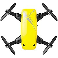 Ounice S9 Altitude Hold 0.3MP HD Camera 6-Axis Foldable WIFI RC Quadcopter Pocket Drone (Yellow)