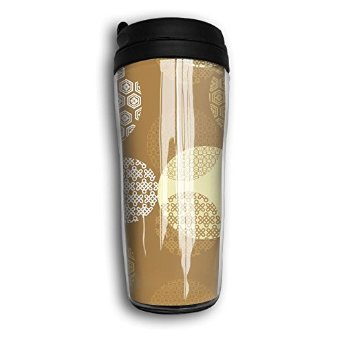 Curve Traveler Coffee Mugs Double Wall Thermos Coffee Cup Special Design For Japanese Style Pattern by VIMUCIS