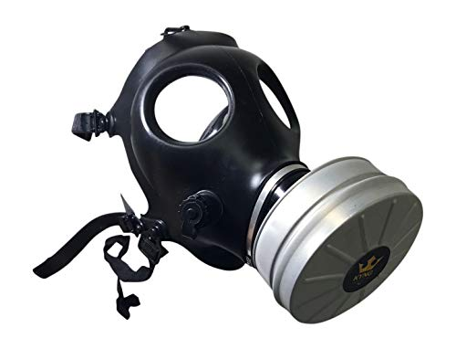 Israeli Style Rubber Respirator Mask NBC Protection w/Premium Aluminum Mask 40mm FILTER canister For Industrial Use Chemical Handling Painting, Welding, Prepping, Emergency Preparedness KYNG TACTICAL by Kyng Tactical (Image #7)
