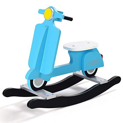 Blue Home & Games Toy Riding Toys Rocking & Spring Shaking & Hobbies Classic, Child, Boy, Girl, Hobby, Gift, Present, Straddle, Gallop, Fastener, Motorcycle Shape Motorbike from Lek Store