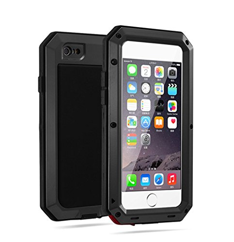 R&MAO-iPhone 6/6s plus 5.5 Inch Aluminum Case,[Heavy Duty]Extreme Waterproof/Shockproof Dust/Dirt/Snow Proof Military Gorilla Glass Protection Cover Case for iPhone 6/6S plsus 5.5