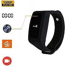 VRXN Spy Camera 1080P HD Wearable Wristband Portable Video Recording Camera Ajustable Hidden Camera Black