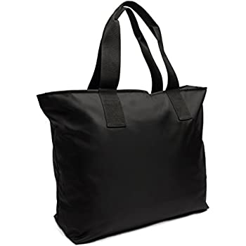 Amazon.com: Large Nylon Tote Bag For Shopping, Beach, Sports, Gym ...