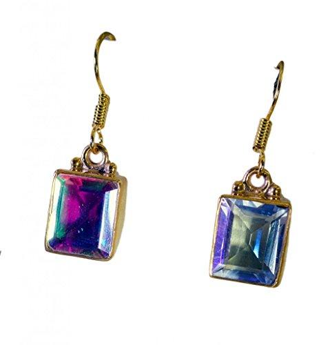 Riyo plaqué or verre dichroïque de gemmes femmes de la mode des bijoux indiens l 1.2in multiples