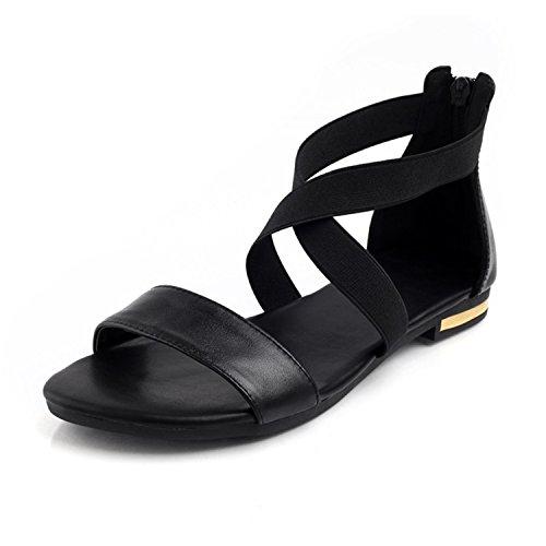 Nerefy 2018 Genuine Leather Women Sandals Fashion Summer Heel Sweet Women Flats Heel Summer Sandals Ladies Shoes B07D77SC5R Parent a59d67