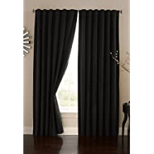 Absolute Zero 63-Inch Velvet Blackout Home Theater Curtain Panel, Black
