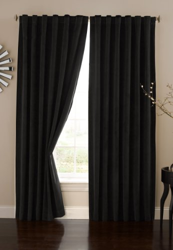Absolute Zero 11718050X084BK Velvet Blackout Home Theater 50-Inch by 84-Inch Single Curtain Panel, Black by Absolute Zero
