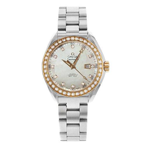 Omega Watch Seamaster Aqua Terra Co-axial Automatic Diamond (Chronometer Automatic Gold Case)