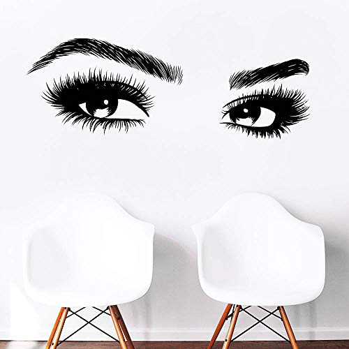 - Melissalove Beauty Salon Quote Wall Decal Stickers Make Up Store Home Decoration Murals (LC464 Black)
