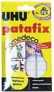 UHU White Clay Adhesive 60g Patafix Home Deco 32 Pcs.