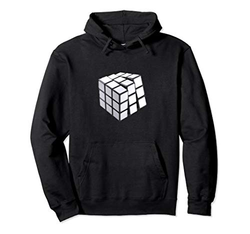 Rubiks White Cube Adult Hoodie,Maths Solver Costume For all