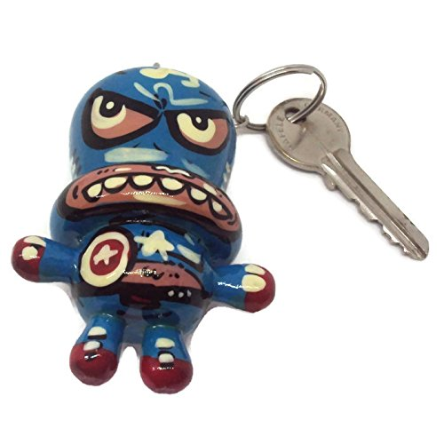 [Agility Captain America Doll Wood Funny Handmade Key Chain, Key Ring Art Paint] (Captain America First Avenger Halloween Costume)