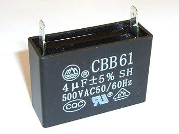 Repuesto para compresor: Condensador de flujo 4uF: Amazon.es: Bricolaje y herramientas