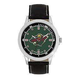NHL Minnesota Wild Mens Player Series Wrist Watch, Silver, One Size
