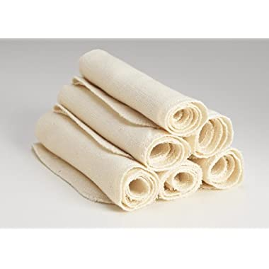 Organic Cloth Paper Towels Cleaning Cloth - Set of 6 17x17 in Natural