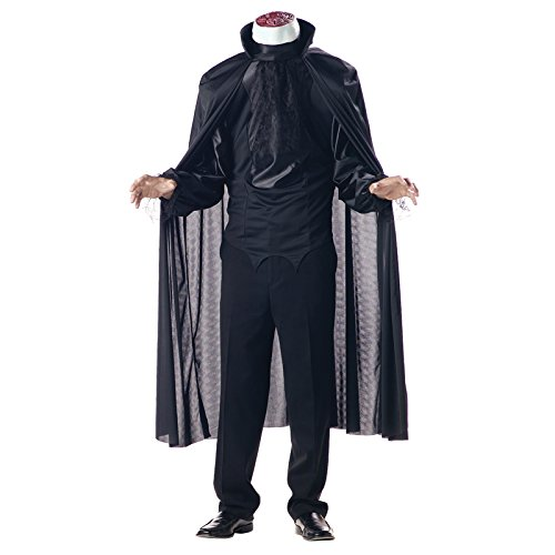 [California Costumes Men's Headless Horseman Costume,Black,Large] (Black Men Halloween Costume)