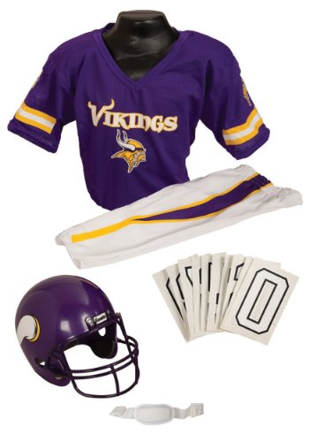 NFL Deluxe Uniform Set Size: Medium, NFL Team: Minnesota Vikings - Football Player Costume For Kids