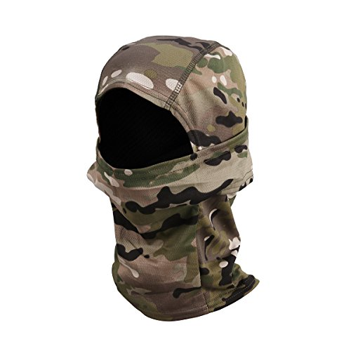 Review WINOMO Camouflage Balaclava Hood Ninja Quick Dry Military Headwear Breathable Hunting Military Tactical Helmet Liner Gear Full Face Mask (All Terrain Camouflage)