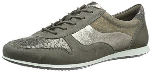 ECCO Footwear Womens Touch Tie Fashion Sneaker, Warm Grey/Warm Grey/Metallic, 37 EU/6-6.5 M US (Athletic Metallic Tie)