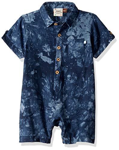 Fore!! Axel & Hudson Boys' Navy Tie Dye Romper, 3/6 Months
