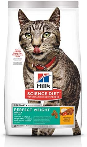 Hill s Science Diet Dry Cat Food, Adult, Perfect Weight for Weight Management, Chicken Recipe