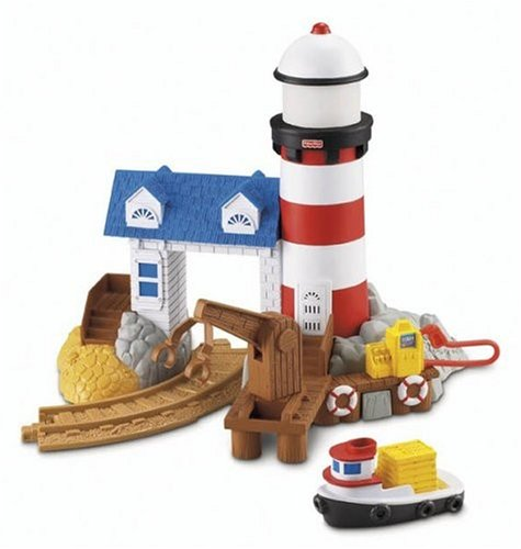 Fisher-Price GeoTrax Rail & Road System - Harbor Docks Lighthouse
