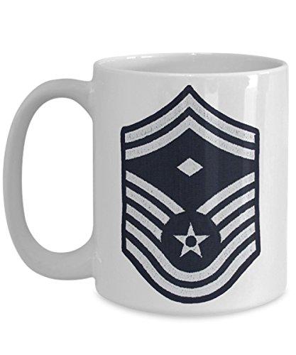 US Air Force Coffee Mug - Senior Master Sergeant, First Sergeant Coffee Mug - SMSgt (E8) - 15 oz Mug - Gift for Veteran, Airman, Promotion, Retirement