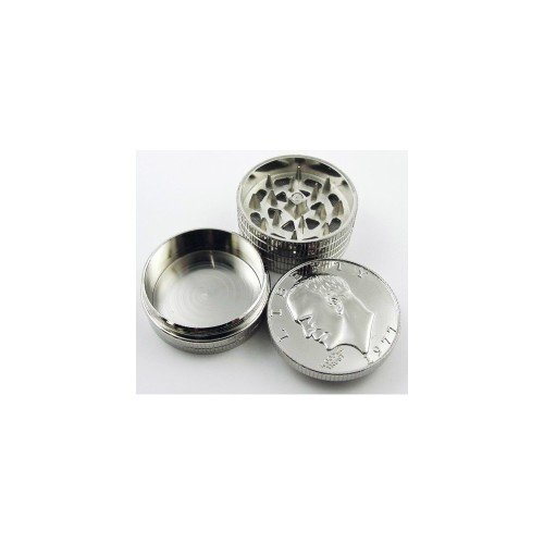 High Auality Construction Small Eagle US Dollar $1 Coin Motif Design Sharp Smart 3 Stages Pieces Tobacco & Spice Herb Pollen Grinder with Mesh Screen Compartment Magnetic Lid & Storage Section ( Better Spicery Powder Mixes )