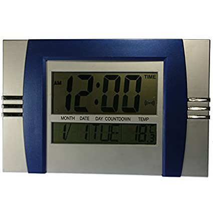 Reloj de pared o sobremesa digital Mod.8050 - Alarma Calendario Temperatura (29 x