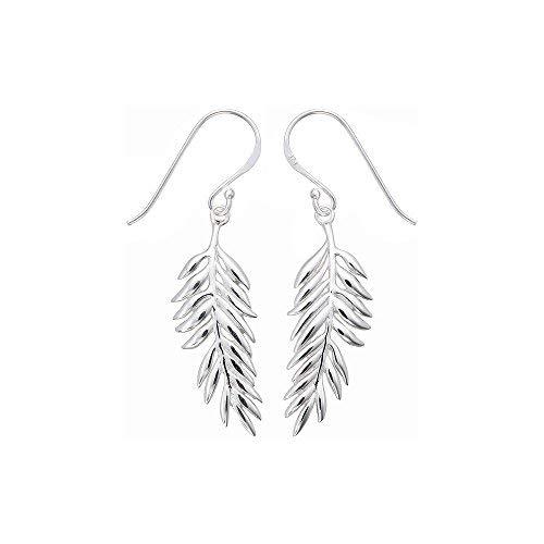 61892eade Boma Sterling Silver Fern Earrings: Boma: Amazon.co.uk: Jewellery