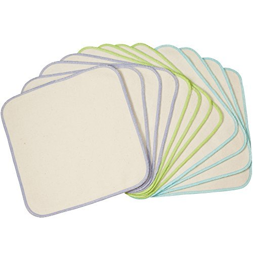 Price comparison product image OsoCozy Organic Flannel Baby Wipes 12 pack