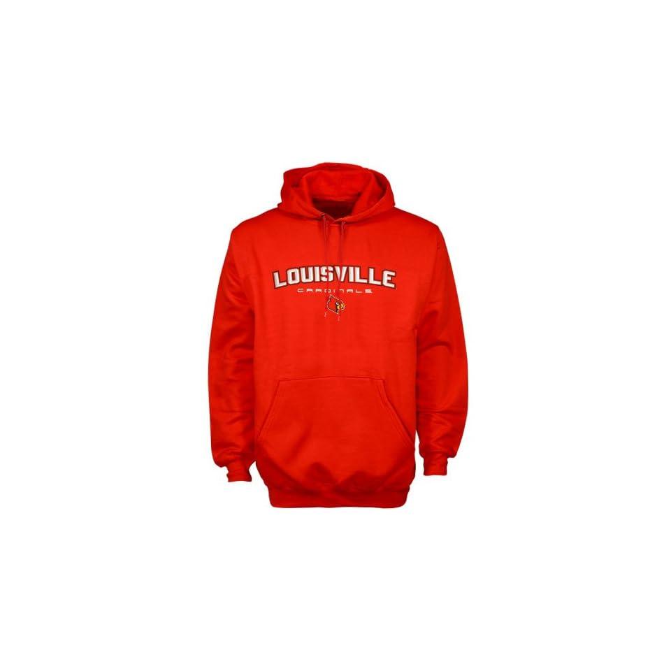 Louisville Cardinals Red Bevel Square Hoody Sweatshirt
