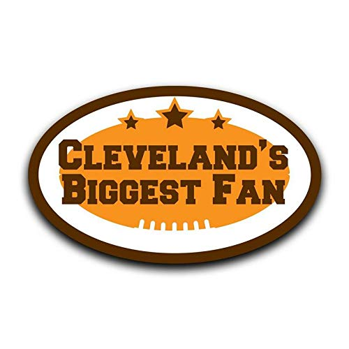 (More Shiz Cleveland's Biggest Fan Decal Sticker Car Truck Van Bumper Window Laptop Cup Wall - Two 5 Inch Decals -)