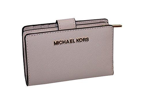 MICHAEL Michael Kors Jet Set Travel Bifold Zip Coin Wallet (Blossom) by MICHAEL Michael Kors