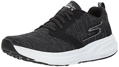Skechers Performance Men's Go Ride 7 Running Shoe,black/white,8.5 M US